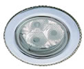 TRIOLEDCW.  High Powered 3 X 1W LED Downlight Cool White LED lamp in White Tilting Downlight.