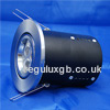 The FRLRFG1 - FireRated Lock Ring Fixed GU10 Downlight in Satin Chrome