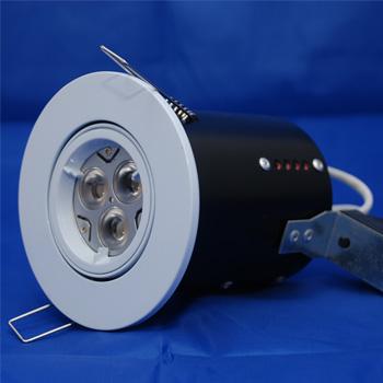 The FRLRTG - FireRated Lock Ring Tilt GU10 Downlight in White