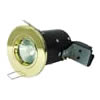 The FRLRFG - FireRated Lock Ring Fixed GU10 Downlight in Brass