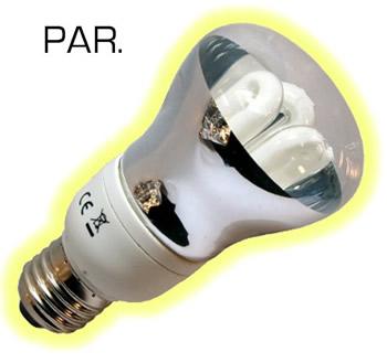 R8011W.  R63 E27 11w CFL`s PAR lamp.