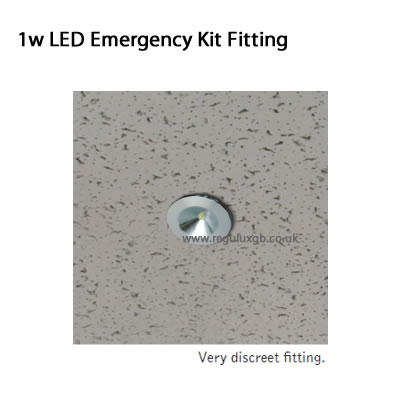 Dimensions - Emergency Lighting - 1w LED Emergency Kit