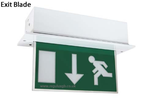 Emergency lighting - Exit Blade