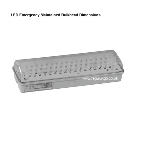 Site Lighting - LED Maintained Emergency Bulkhead