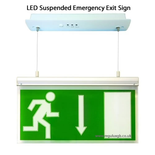 Emergency Lighting - LED Suspended Exit Sign