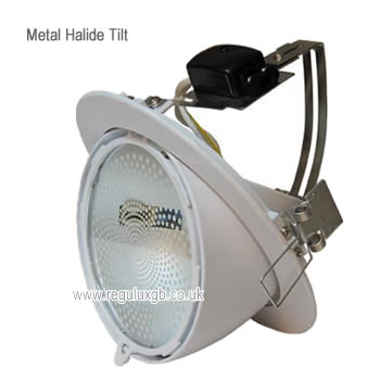 Tilt White 150w Circular Metal Halide Fitting