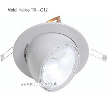 Tilt White 70w & 150w Circular Metal Halide Fittings