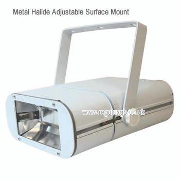 <br /> Adjustable Surface Mounted Metal Halide Fitting - Integral Gear