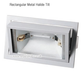 Tilt White 150w Rectangular Metal Halide Fitting