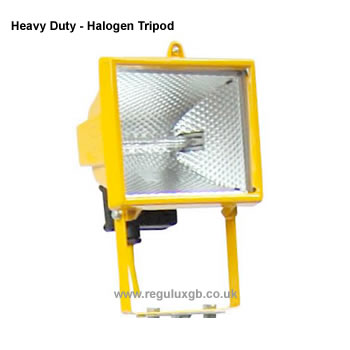 Site Lighting -Halogen Tripod - Heavy Duty