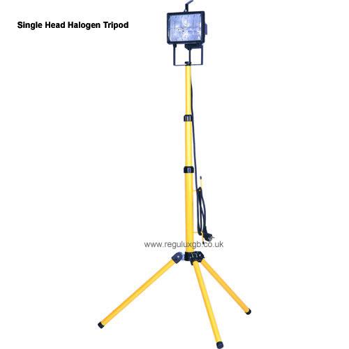 Site Lighting -Single Head Halogen Tripod