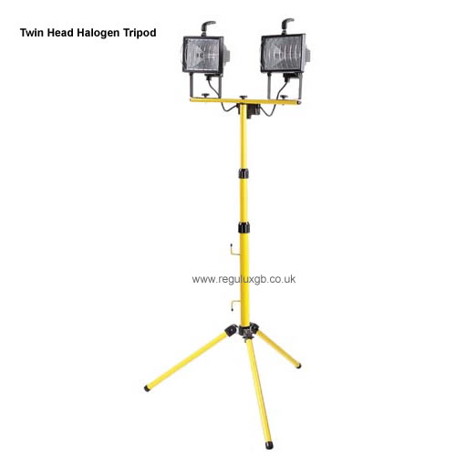 Site Lighting - Twin Head Halogen Tripod