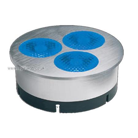 High Power Blue LED Lamp - 3x1w 60 Degree Flood
