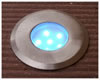 MOLEB - Stainless Steel Decklight 6LEDs 0.4w Blue