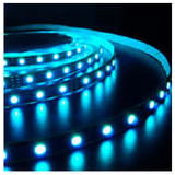 Flexible Ribbon RGB LED Strip showing Blue