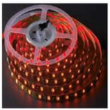 Flexible Ribbon RGB LED Strip Showing Red
